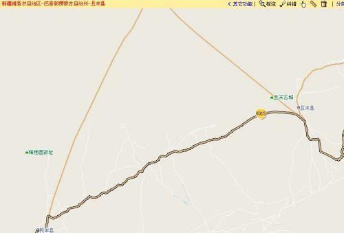 附:搜狗地图----塔里木沙漠