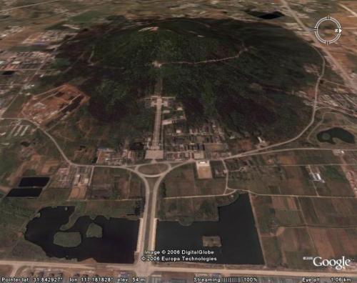 安徽合肥蜀山风景区毁山工程