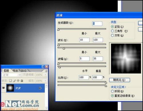 """按""""Ctrl+Alt+Shift+T""""键执行连续变换并复制操作2次,得到背景副本2"""