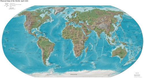 世界地图引出的发现(综合材料)