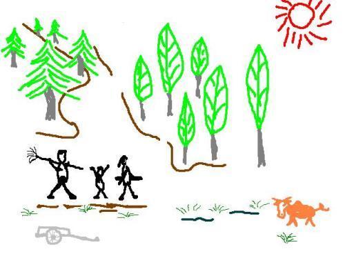 一堆树叶矢量图