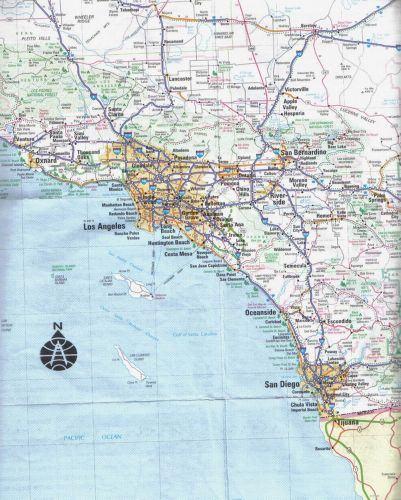 湾区,洛杉矶地图