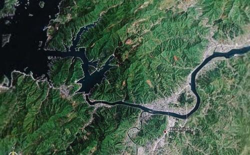 卫星俯视图——千岛湖-风云博客--图片天地-搜狐博客