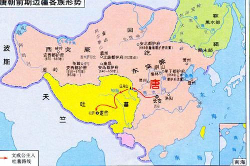 地图全图唐前期疆域图