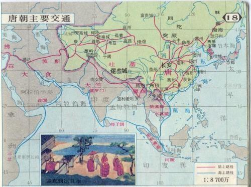 唐中期地图