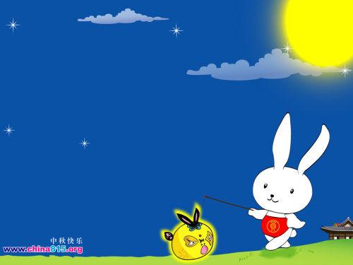 嫦娥玉兔赏月简笔画