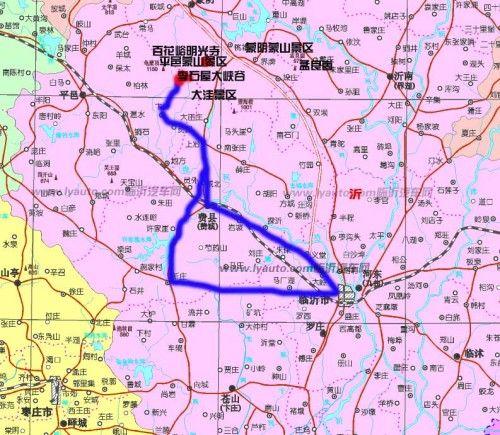 山东省临沂市地图