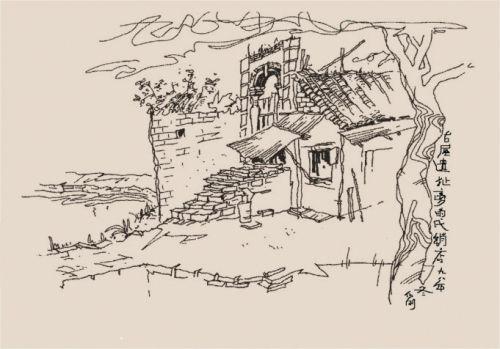 我开始是画的一张油画,但画完后怎么也不如意,便丢开画具拿起钢笔画起图片