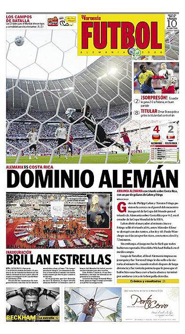 世界杯版面秀之一 共34张 国外报纸版面欣赏 再贴17张