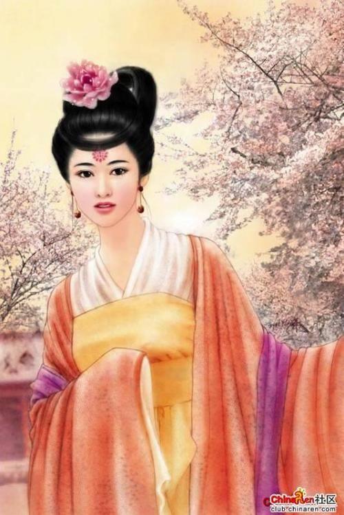 网上搜索的四大美女电脑画像,王昭君当属第一