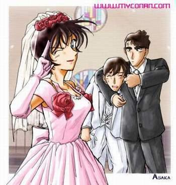 高木涉(白衣的那个) 佐藤美和子(新娘)