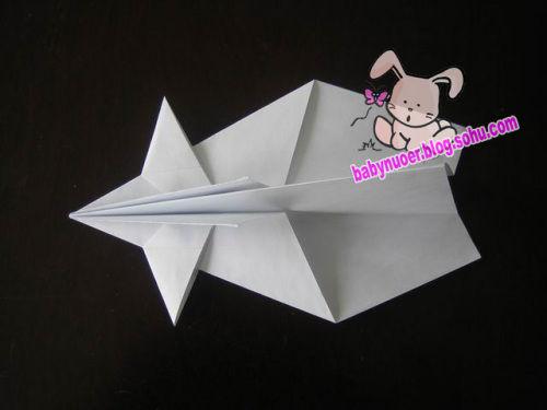 幼儿园手工纸飞机图片步骤