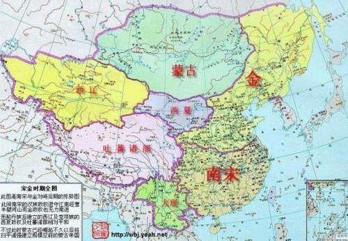 中国不同时期的地图之金与南宋图片