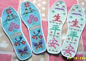 小孩鞋垫格子花样图 图纸