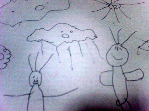 小熊的画----下雨了