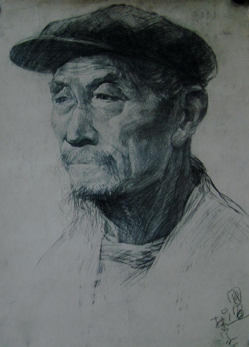 部分老人素描头像习作-家贤艺术-搜狐博客