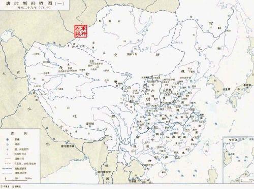 唐朝时的中国地图和世界地图
