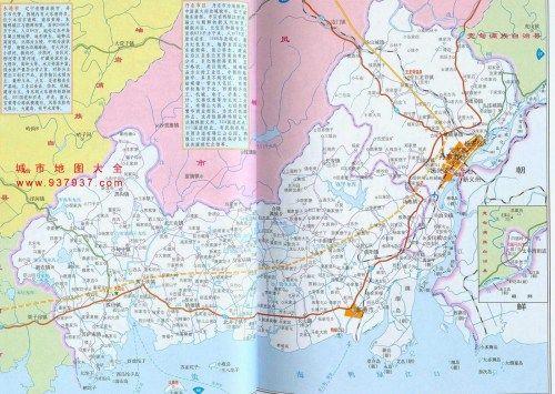 丹东地区地图