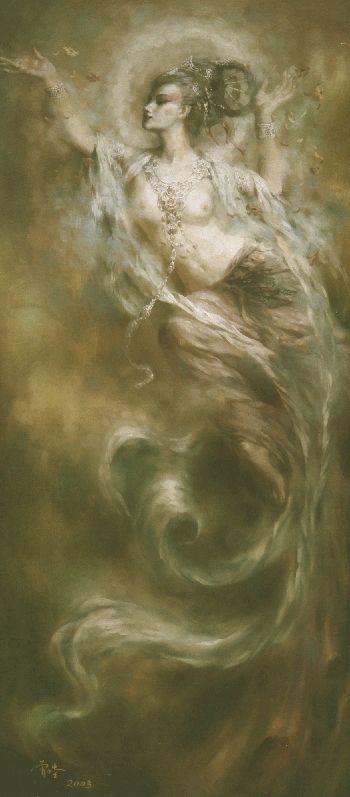 2006-09-17 | 曾浩-敦煌壁画飞天神女(油画)图片