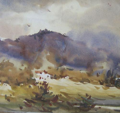 鹿全福和他的水彩画