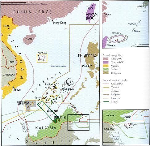 中国南海领土最远在曾母暗沙大大小小的岛屿和暗礁