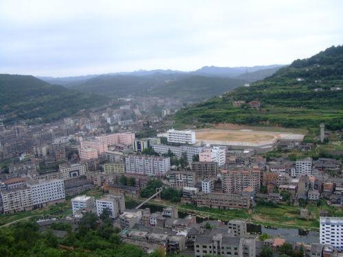 剑阁县城----鹤鸣山上俯瞰县城