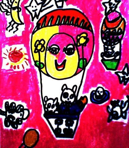 儿童画(热气球)