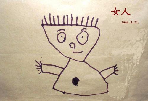 三岁儿童人物简笔画
