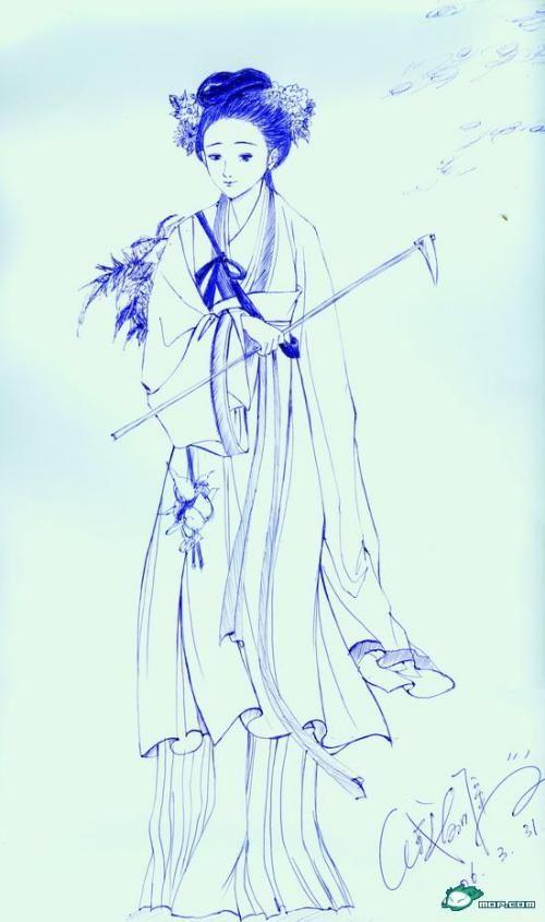 在网上找了一张素描吧可以说是,只不过是用圆珠笔画的~~!